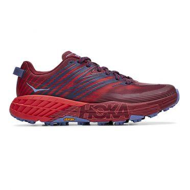 Hoka One One Speedgoat 4 trail running shoes red woman