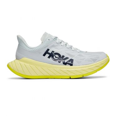Hoka One One Mach 4 running shoes Grey/yellow men
