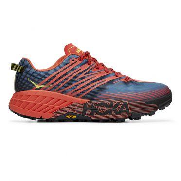 Hoka One One Speedgoat 4 trail running shoes blue/green men