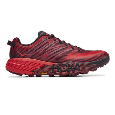 Hoka One One Speedgoat 4 trail running shoes red men