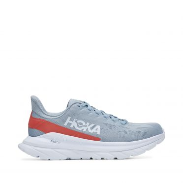 Hoka One One Mach 4 running shoes grey/white women