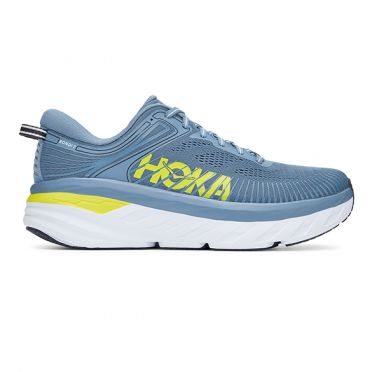 Hoka One One Bondi 7 running shoes blue/yellow men