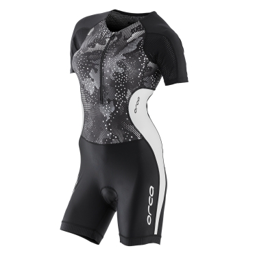 Orca Core race trisuit short sleeve black/white women