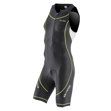 Orca Core basic race trisuit black/white/yellow men