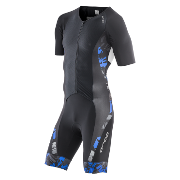 Orca 226 Kompress aero race trisuit short sleeve black/blue men