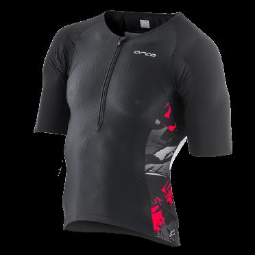 Orca 226 Tri jersey short sleeve black/red/white men