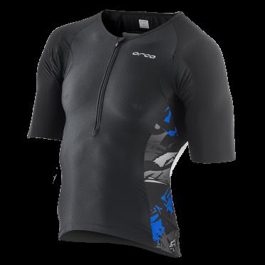 Orca 226 Tri jersey short sleeve black/blue/white men