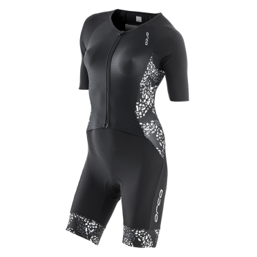Orca 226 Kompress aero race trisuit short sleeve black/white women