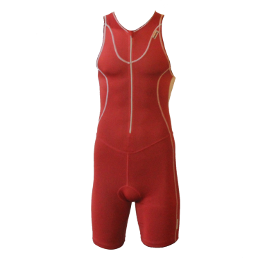 Ironman trisuit front zip sleeveless Speedflo red/silver men
