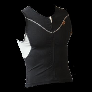 Ironman tri top front zip sleeveless EX zip black men