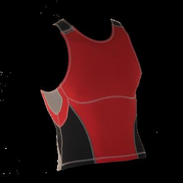 Ironman tri top sleeveless olympic red/black men