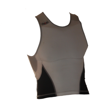 Ironman tri top sleeveless new olympic white/black men