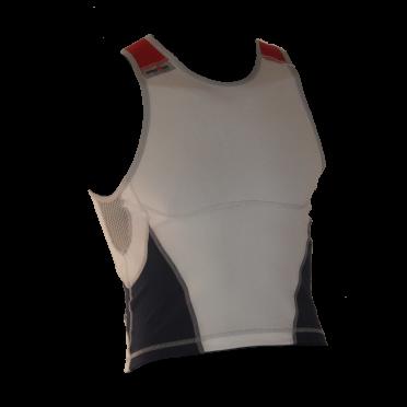 Ironman tri top sleeveless new olympic white/blue men