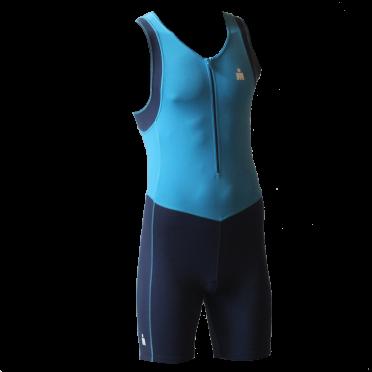 Ironman trisuit front zip sleeveless B9 blue men