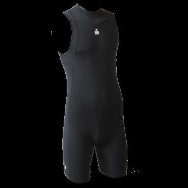 Ironman trisuit back zip sleeveless B9 black men