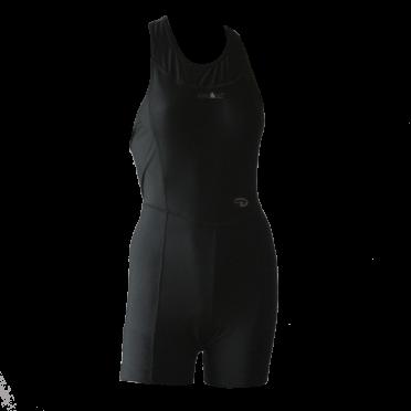 Ironman trisuit sleeveless open back Duofold black women