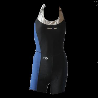 Ironman trisuit sleeveless open back Duofold blue/black women