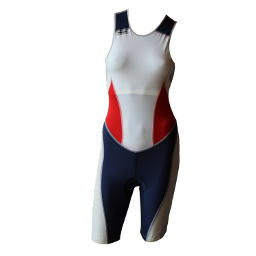 Ironman trisuit back zip sleeveless extreme suit white/blue/red women