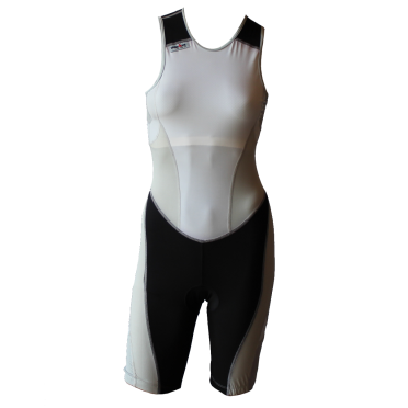 Ironman trisuit back zip sleeveless extreme suit white/grey women