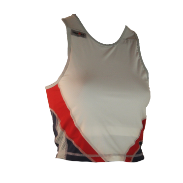 Ironman tri top sleeveless extreme white/blue/red women