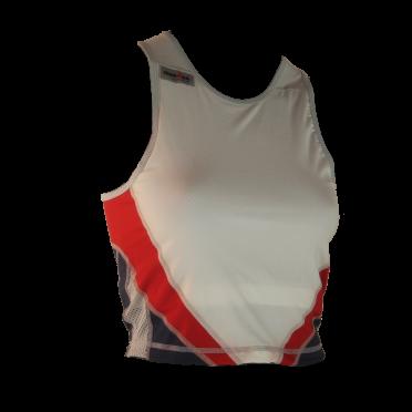 Ironman tri top sleeveless extreme white/blue/red women