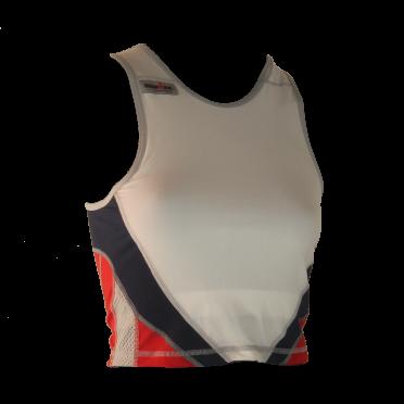 Ironman tri top sleeveless extreme 360 white/red/blue women