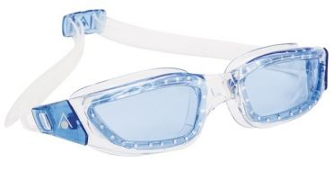 Aqua Sphere Kameleon blue lens goggles silver/blue