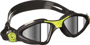 Aqua Sphere Kayenne mirror lens goggles grey/lime