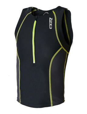 Zone3 Adventure sleeveless tri top black/yellow kids