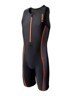 Zone3 Adventure sleeveless trisuit black/orange kids