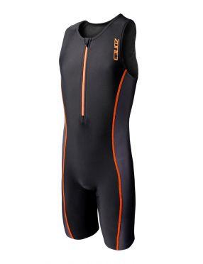 Zone3 Adventure sleeveless trisuit black/orange kids