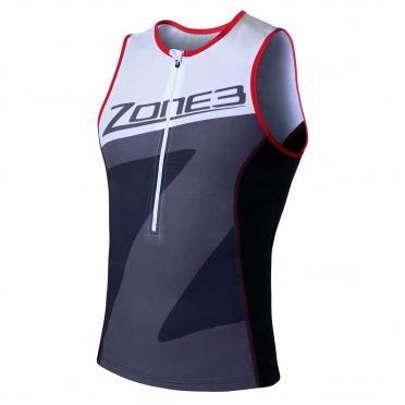 Zone3 Lava tri top black/white/grey/red men