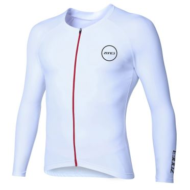 Zone3 Lava Aero long sleeve tri top wit men
