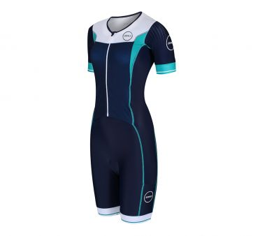 Zone3 Lava long distance FZ short sleeve trisuit women