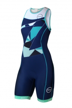 Zone3 Lava long distance tri suit blue/green/white women