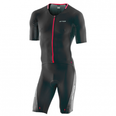 Orca 226 Perform aero race short sleeve trisuit black/red men