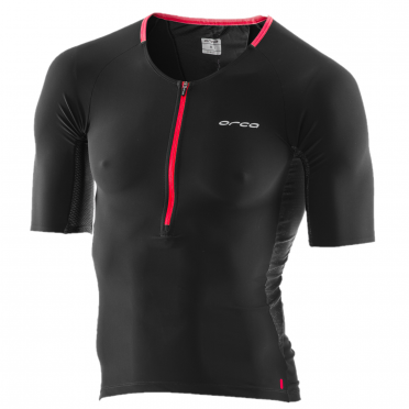 Orca 226 tri jersey short sleeve black/red men