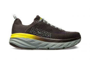 Hoka One One Bondi 6 running shoes black/yellow men