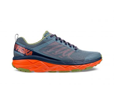 Hoka One One Challenger ATR 5 running shoes light blue/orange men