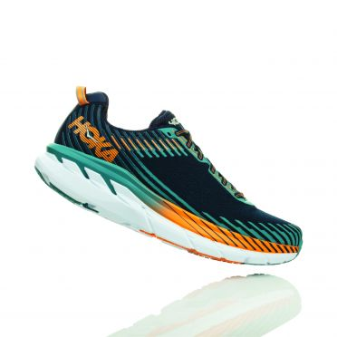Hoka One One Clifton 5 running shoes black/blue men