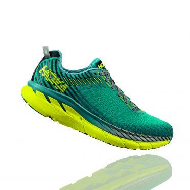 Hoka One One Clifton 5 running shoes blue/yellow men