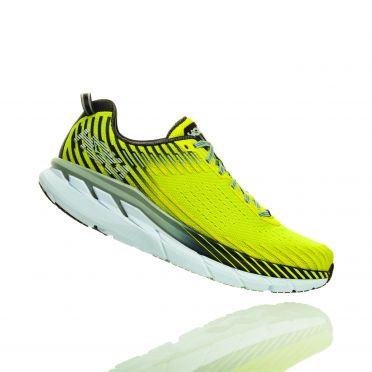 Hoka One One Clifton 5 running shoes yellow men