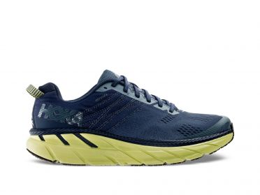 Hoka One One Clifton 6 running shoes blue/green men