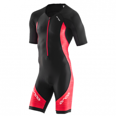 Orca Core race short sleeve trisuit black/red men