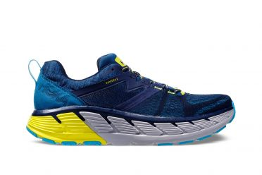 Hoka One One Gaviota 2 running shoes blue/yellow men