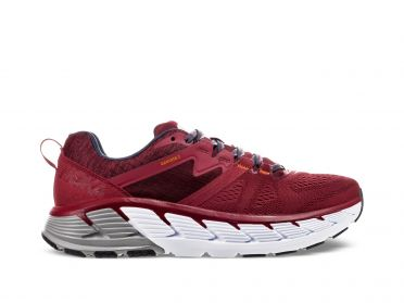 Hoka One One Gaviota 2 running shoes red/grey men