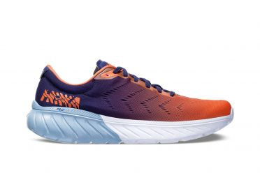 Hoka One One Mach 2 running shoes blue/orange men