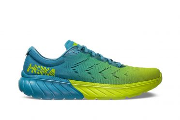 Hoka One One Mach 2 running shoes blue/yellow men