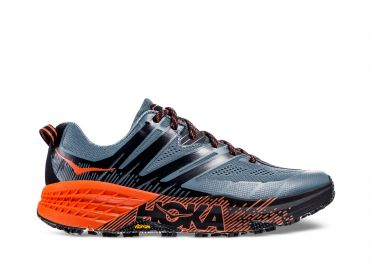 Hoka One One Speedgoat 3 trail running shoes grey/orange men