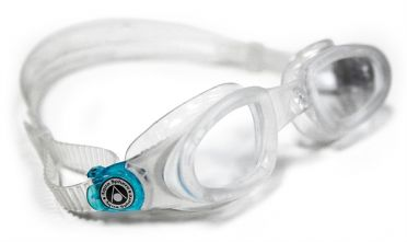 Aqua Sphere Mako clear lens goggles silver